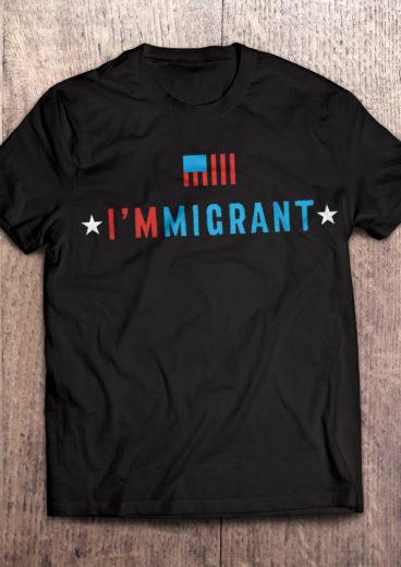 I'm Immigrant T-Shirt in Black